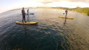Evening SUP out of Little Haven Pembrokeshire with my Wooden SUP Paddle