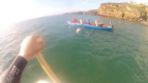 Evening SUP out of Little Haven Pembrokeshire Wales with my Wooden SUP Paddle, Buy online