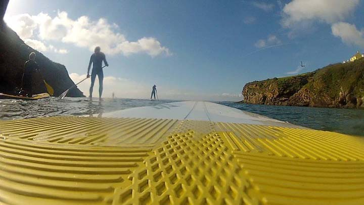 Evening StandUpPaddle out of Little Haven Pembrokeshire with my Wooden SUP Paddle, Buy online