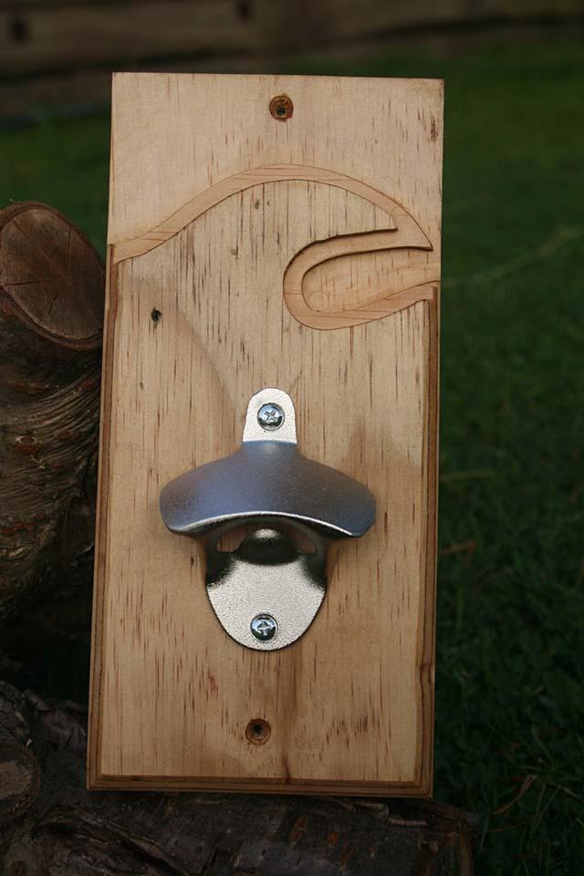 wooden wall mounted bottle opener sakuraworkshop. Black Bedroom Furniture Sets. Home Design Ideas