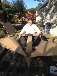 Sakura Workshop Cardboard Kayak fittingout