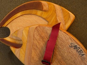 Sakura Workshop, wooden bodysurfing handplane, handmade in Pembrokeshire wales uk For Sale