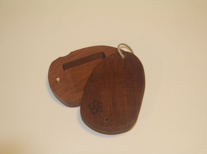 Keruing wood surf wax box, recycled wood, handmade in Pembrokeshire wales buy online