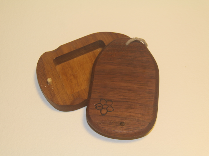 Mahogany wood surf wax box, recycled wood, handmade in Pembrokeshire wales buy online