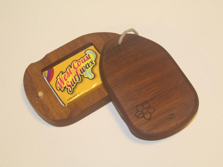 Mahogany wood surf wax box, recycled wood, handmade in Pembrokeshire wales buy online