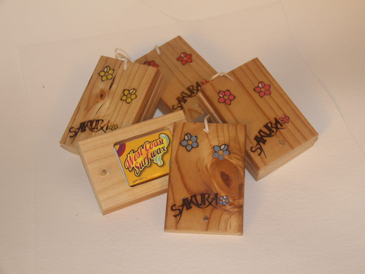 Pine wood surf wax box, recycled wood, handmade in Pembrokeshire wales buy online