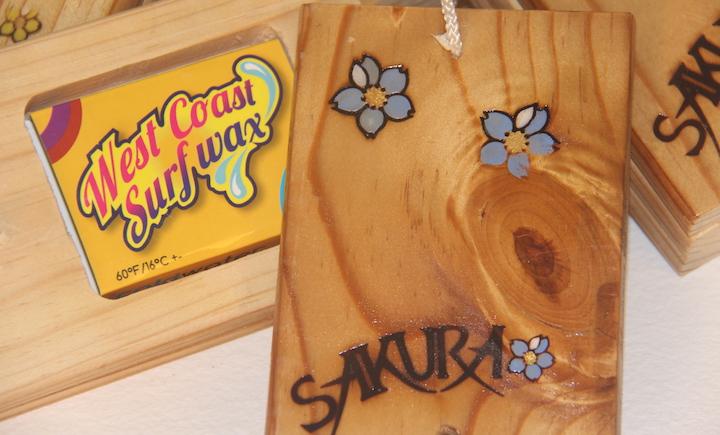 Pine wood surf wax box, recycled wood, handmade in Pembrokeshire wales buy online