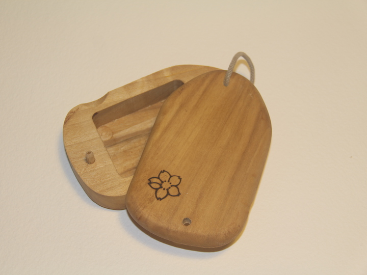 Tulip wood surf wax box, recycled wood, handmade in Pembrokeshire wales buy online